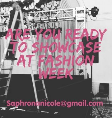 Are you ready to showcase at Fashion Week?